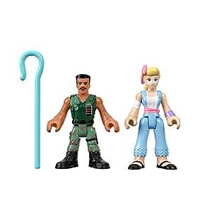 Mattel Imaginext Disney Toy Story 4 Pack de 2 Figuras Bo Peep y Combat Carl, Juguetes Niños +3 Años (GFD13)