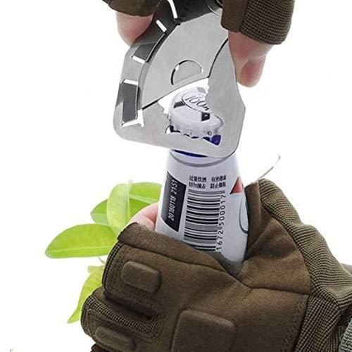 9-en-1 outil de poche multi-outil outil de survie portable de poche en acier inoxydable 420, décapsuleur, tournevis, outils de bricolage camping en plein air/randonnée / chasse/survie
