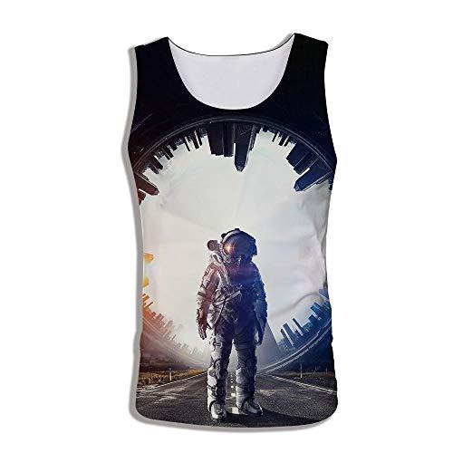 Charakter 3D gedruckt Tank Top Homme lustige Tank Top ärmellose Gym Tank Tops Weste T-Shirt für Männer, D