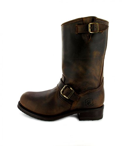 Sendra Bottes Bottes 9852 Engine ersti Efel avec capuchon en acier & Isolation Thinsulate Marron - Mad Dog Tang