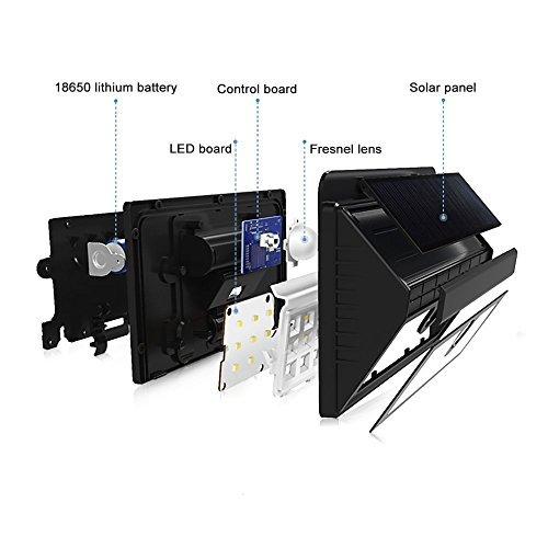 Mpow Solarleuchte 8 LED Solarlampe Sicherheits-, Bewegungs Licht Sensor mit 3 Intelligenten Modi für Garten usw. - 2