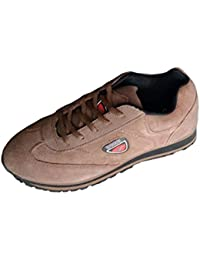 Lakhani Brown Synthetic Running Sports Shoes,