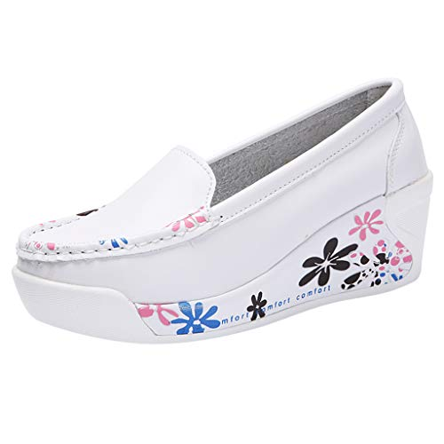 ღLILICATღ Zapatos De Plataforma con Cuñas para Mujer Mocasines Deportivos Cuero para Mujer Mocasines...