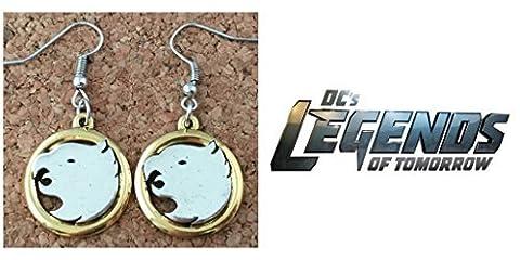 J&C Family OwnedDC Comics Legends of Tomorrow Hawks Logo Two-Tone Charms Cute Girl Charm Earrings by J&C