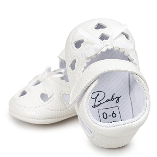 BZLine® Baby Girl Hollow out Sandalen Schuh Schuhe Sneaker Anti-Slip Soft Sandalen Weiß