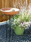 #7: R.V. CRAFTS Earthen Pot Terracotta Bird Bath, Earth Brown(ROUND SHAPE)