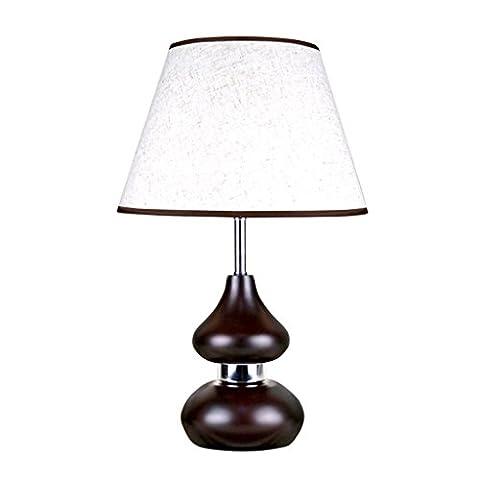 LOFAMI Simple gourde bois chambre rétro fashion style lampe de chevet, lampe de table chaude lampe linge romantique salon / salle / thé / hôtel lampes de l'éclairage décoratif ( Couleur : Commutateur Dimming