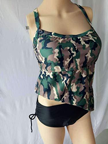 TAYIBO Traje de baño niña Bañadores de Mujer,Bikini Dividido Camuflaje Verde Militar,...