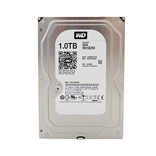 WD Caviar Green Desktop interne Festplatte 3,5 Zoll, 8,9cm, PC, HDD, NAS, IntelliPower, SATA-600, HDD - recertified, Kapazität:1.000GB (1TB) -