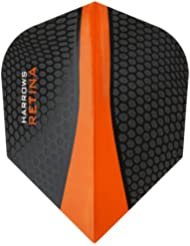 Harrows Retina Dart Flights - 5 Sets (15) - 100 Micron Extra Strong - Standard - Orange