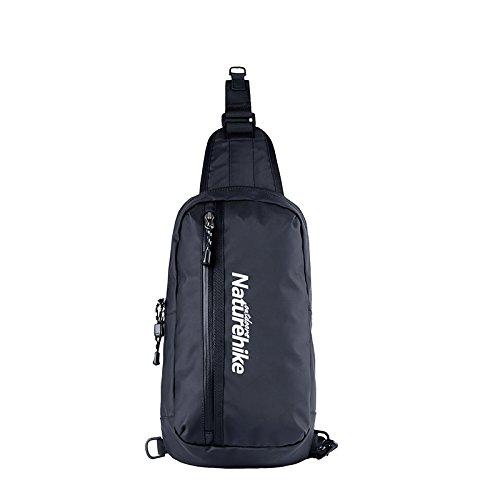 HYSENM Schultertasche Sling Bag Schulterumhängetasche Schulterrucksack Rucksack mit ein Träger Radsport 8L Schwarz