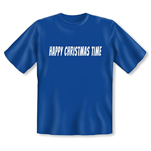 Lustige Weihnachts-Geschenk-Idee! Supergeil und Supergünstig! Trendiges T-Shirt mit dem Motiv HAPPY CHRISTMAS TIME!