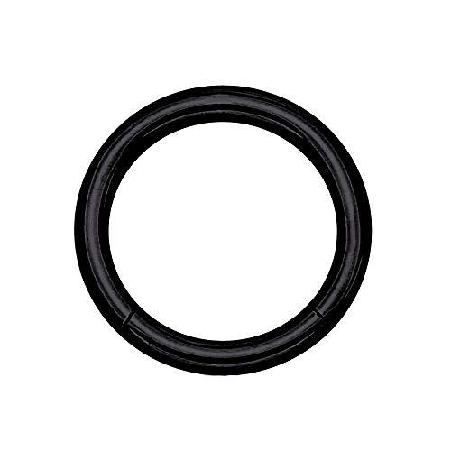 eeddoo Piercing-Ring Segment-Clicker Segment-Ring Schwarz Edelstahl 1,6 mm x 8 mm