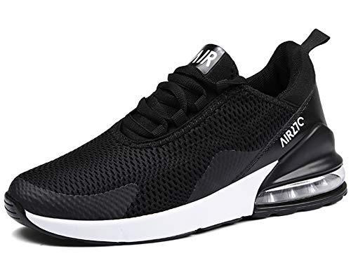 GNEDIAE Uomo AIC 270 a Collo Basso Scarpe da Ginnastica Sportive Scarpe da Corsa Running Palestra Sneakers Nero 45 EU