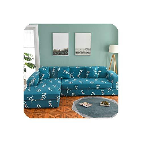 Elastic-Sofa-Abdeckung Stretch Sofabezüge für Wohnzimmer Benötigt 2 Stück bestellen Couch Abdeckungen für L-Form Corner Sectional Sofa, Farbe 6,2pcs Kopfkissenbezug (Chaise-abdeckung)