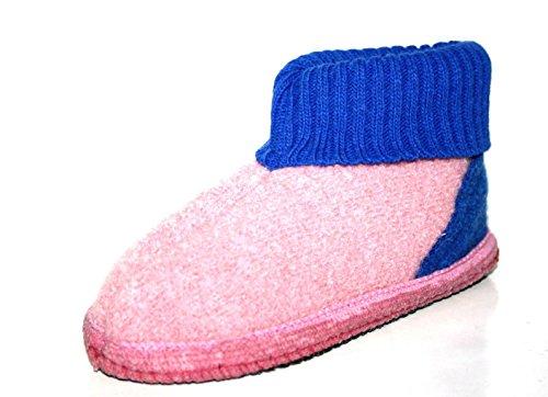 Haflinger , Chaussons pour fille Rose Rose Rose - Pink ( Rosa/Blau )