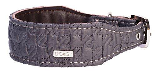 Dog & Co DO&G Silk Expressions - Collare per Cani in Pelle, Colore: Grigio
