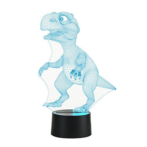 euheit Tier 7 Farbe ändern Tisch Lampe Weihnachts spielzeug Geschenk Dinosaurier lamp (Neuheit Weihnachten Geschenke)