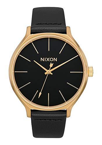 NIXON Reloj Analógico para Mujer de Cuarzo con Correa en Cuero A1250-