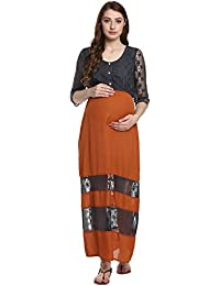 eda60245c594e Crepe Maternity Dresses: Buy Crepe Maternity Dresses online at best ...