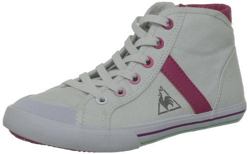 Le Coq Sportif Saint Malo Mid Cvs Ps, Baskets mode mixte enfant Blanc (White/Fuchsia Purple)