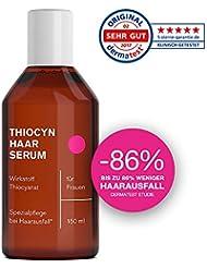 Thiocyn Haarserum für Frauen • Spezialpflege bei Haarausfall und dünner werdendem Haar in Wechseljahren • Haarwachstum beschleunigen • Haarwuchs-Mittel MADE IN GERMANY