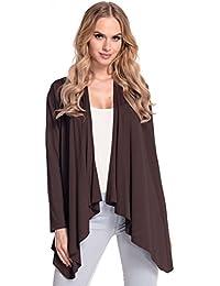 Glamour Empire para mujer Abrigo chaqueta cascada manga larga. 320p
