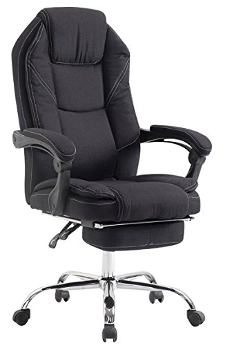 Swivel desk chair, Manager Boss office chair, High Back Executive Fabric Chair Recliner, Extra Padded Computer Chair Heavy duty ergonomic office chair Multi-Function Mechanism / Black eMarkooz