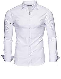 Kayhan Hombre Camisa Manga Larga Slim Fit S M L XL 2XL - Uni