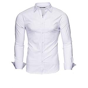 Kayhan Hombre Camisa Manga Larga Slim Fit S-6XL – Uni