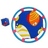 NUOBESTY Jeu de Pagaies Jeu de Balle de Trampoline et Attrape-Billes Jouet de Jardin d'enfants de la Maternelle (Poisson Bleu)