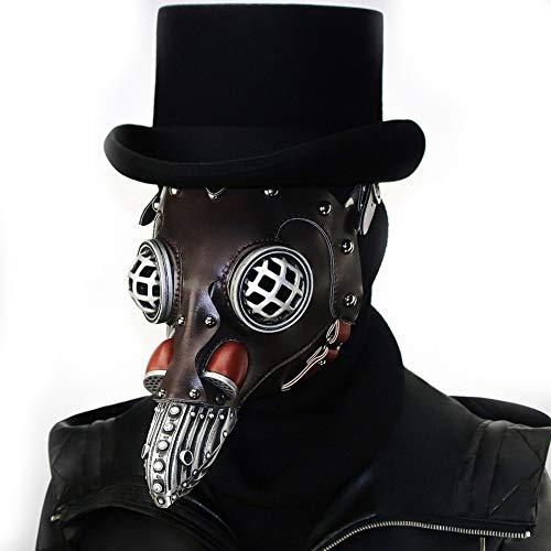 LBAFS Halloween Maske Steampunk Herrschsüchtig Pest Schnabel Doktor Maske Dance Party Party Requisiten Geschenk (kein Hut)