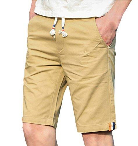 Scothen Herren Cargo Shorts Bermuda Kurze Hose Jeans Bermudas Shorts Vintag Kurze Hose Kariert Knielang Sport Cargo Kurze Hose Slim Fit Freizeit Shorts Casual Mode Männer Streifen Kurze Hose Khaki