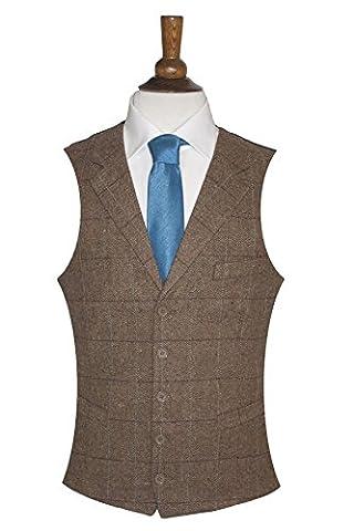 Men's Lloyd Attree & Smith Wool Handle Herringbone Waistcoat -