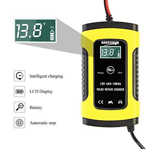 Multi Protezioni di Carica Automatico Rapido Intelligente LCD Digitale 12V 6A Caricabatteria Auto