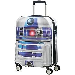 American tourister - Disney Wavebreaker Star Wars R2D2, Maleta Spinner 55/20, 55 cm, 36 L, 3.3 KG Multicolour (Star R2d2)