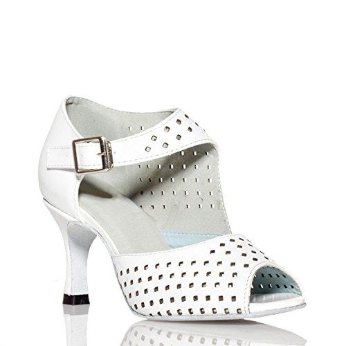 Miyoopark ,  Damen Tanzschuhe White-7.5cm heel