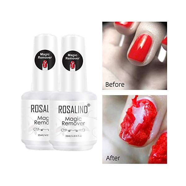 ROSALIND Magic Remover Uñas, Eliminar de Forma Rápida y Sencilla Esmaltes Semipermanente Para Uñas, No Lastimar Tus Uñas…