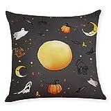 SMILEQ Home Decor Kissenbezug Happy Halloween Throw Kissenbezug Kissenbezüge (F)