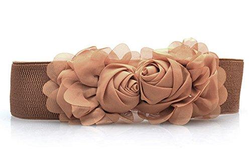 Medeshe de las mujeres flor cinturón ancho elástico en la cintura pretinas  cinturones de novia multicolor b7ce32955a