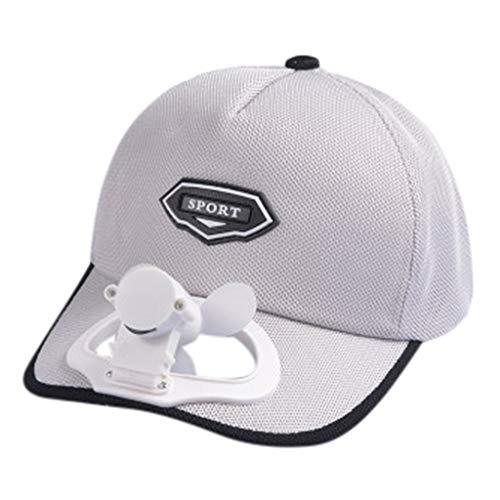 UJUNAOR Modische kreative einzigartige USB-Lade-Fan Hut Sonnenschutzkappe Unisex Damen Herren Cap Strapback Cap Baseball Cap