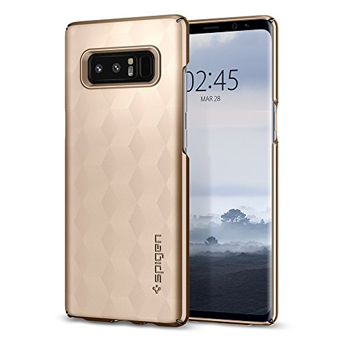 Spigen Cover Galaxy Note 8, [Thin Fit] Rivestimento Soft-Feel **Ultra-Sottile & Robusto** [Forma-Perfetta], Cover Samsung Galaxy Note 8, Custodia Galaxy Note 8 - Maple Gold - 587CS22053