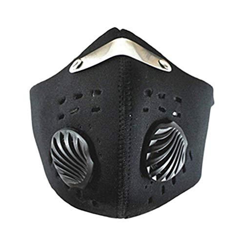 geshiglobal Outdoor Sport Mountain Bike Anti-Staub Mund Maske Winddicht verhindern PM 2,5, Schwarz