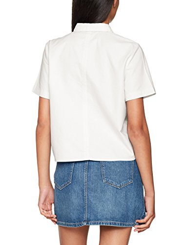 ONLY Damen Bluse Onlgala S/S Shirt Flower Wvn Weiß (Bright White)
