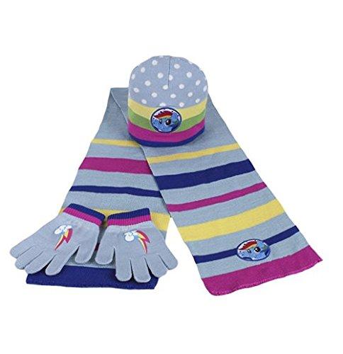 MY LITTLE PONY set cappello sciarpa guanti Bambina taglia taglia unica da 2-6 anni