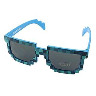 8-Bit Retro Videospiel Pixel Sonnenbrille - Farbe: Blau von EnderToys
