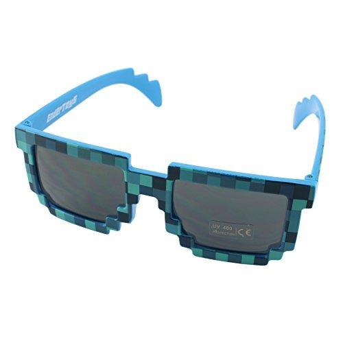 8-Bit Retro Videospiel Pixel Sonnenbrille - Farbe: Blau von EnderToys (Blaue Baby-creeper)