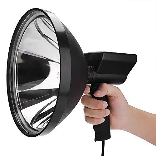 koulate Camping HID Licht, Handscheinwerfer Leistungsstarke 100 Watt 12 V Jagd Spot Licht Arbeitsscheinwerfer LED Außenaufnahmen Suchen Tragbare Lichter -