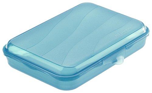 Rotho Funbox Vesperdose 0.75 L, Kunststoff (BPA-frei), blau, 0.75 Liter (19,5 x 14,5 x 4 cm)