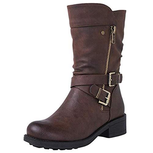 Luckycat Botas de Nieve para Mujer Zapatos Mujer Deportivos Running Botas De Combate Militares De La...